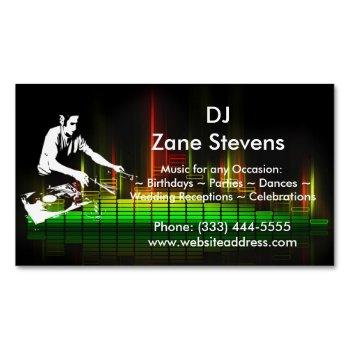 dj turntable business card magnet