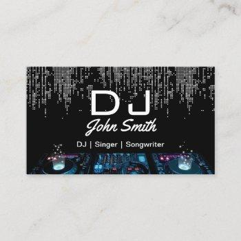 djs singer songwriter modern music event business card