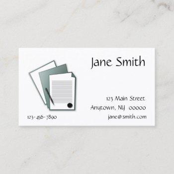 documents business card
