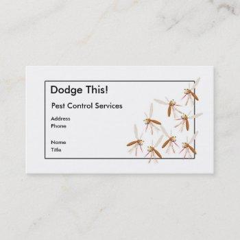 dodge this! pest control business card