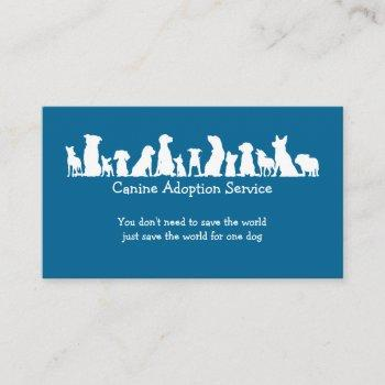 dog adoption service business card