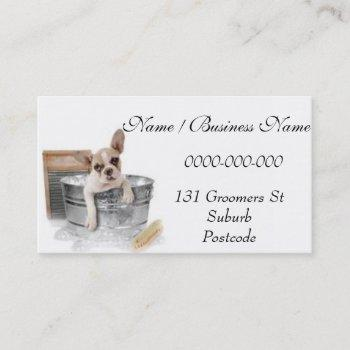 dog bathing grooming business card