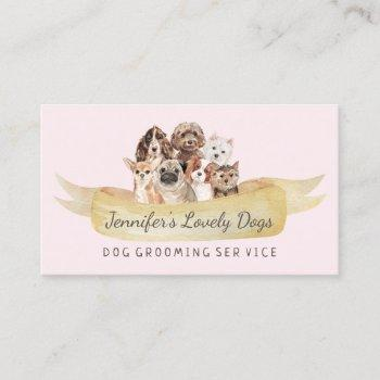 dog grooming small breeds business card