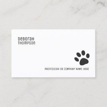 dog paw simple pet business card