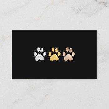 dog paws (silver, gold, bronze) business card