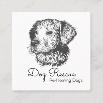 dog rescue and adoptions organization square business card
