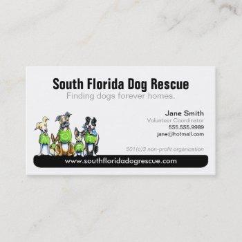dog rescue non profit black tagline business card