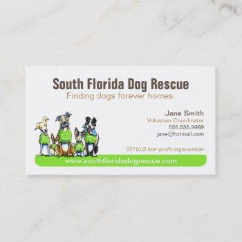 dog rescue non profit green tagline business card