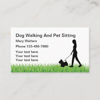 dog sitting and dog walking business card