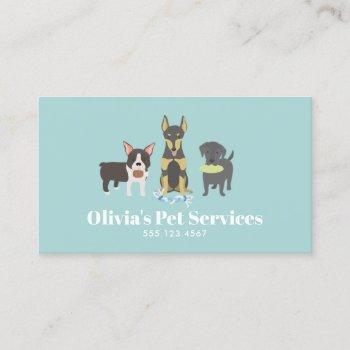 dog walker and pet sitter business card