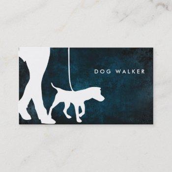 "dog walker business card 3.5"" x 2.0"", 100 pack"