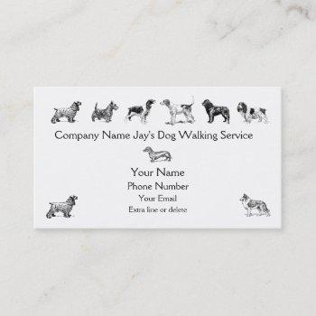 dog walker groomer pet care service custom company business card