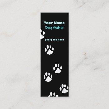 dog walker mini business card