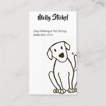 dog walker or pet sitting business cards