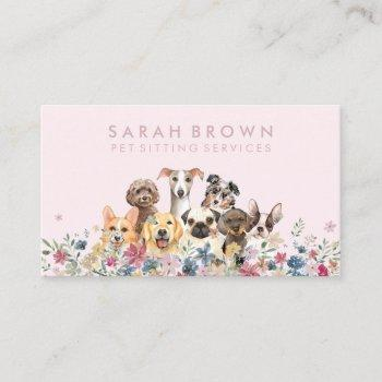 dog walker pet groomer business card