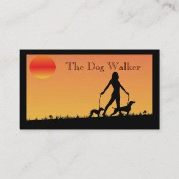 dog walker/ pet sitter  business card