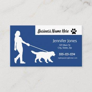 dog walking business cards with schedule