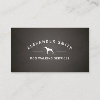 dog walking services business card