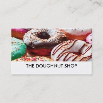 doughnut shop image businesscards business card