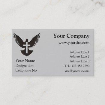 dove with cross business card