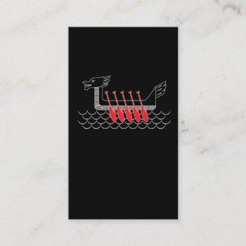 dragon boat crew rowing row sport business card