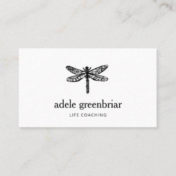 dragonfly logo holistic wellness business card