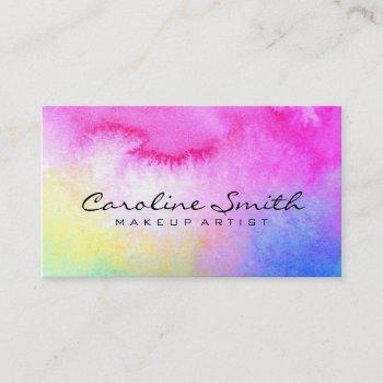dreamy watercolor business card