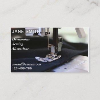 dressmaker, sewing, alterations professional business card