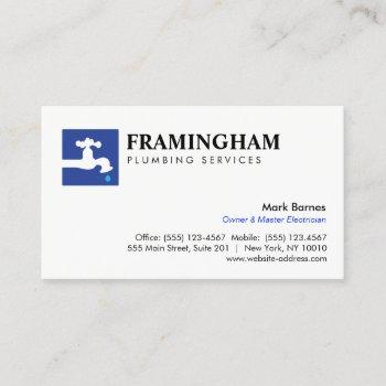 dripping faucet plumbing plumbers logo business card