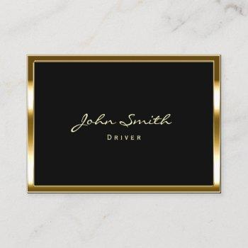 driver modern gold framed business card