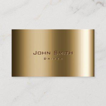 driver professional metal bronze business card