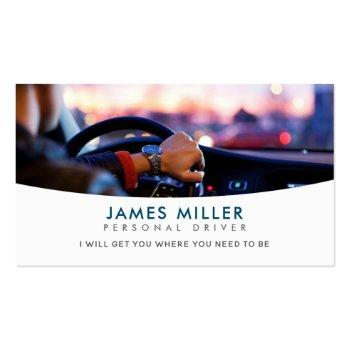 Small Driver Slogans Business Cards Front View