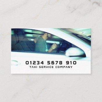 driver taxi cab service, price list business card