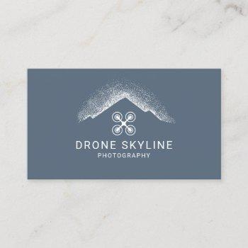 drone aerial photography dusty blue photographer business card