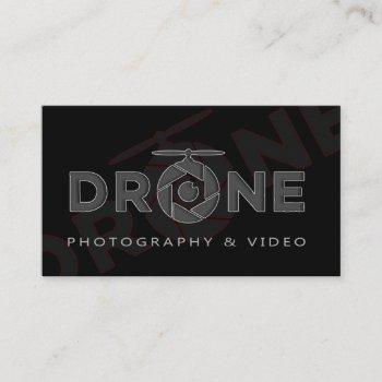 drone photo video business card