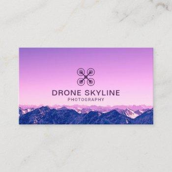 drone photographer skyline aerial photography business card