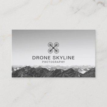 drone photography skyline aerial photographer business card