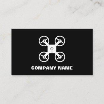 drone pilot business card template with logo