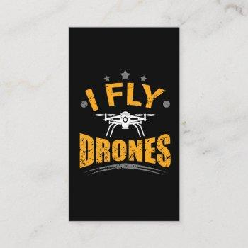 drone pilot flying gift business card