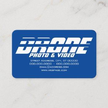 drone services kinetic bold text business card