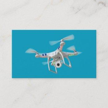 drone white business card