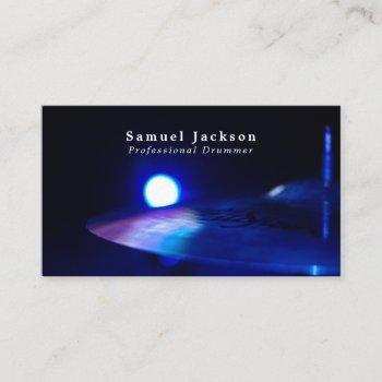 drum cymbal, musician, music industry business card