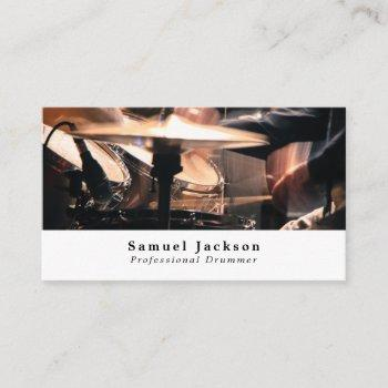 drum kit, professional musician business card