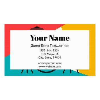 Small Drum Kit Tri-color - Turquoise Coral Gold Business Card Back View
