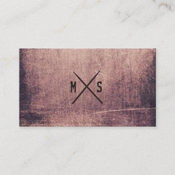 drummer grunge drumsticks monogrammed business card