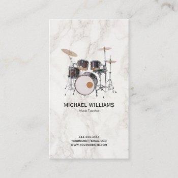 drums music teacher   stylish drummer business card