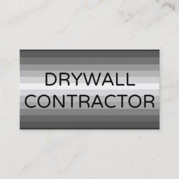 drywall contractor business card