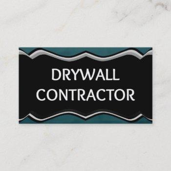 drywall contractor elegant name plate business card