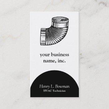 duct elbow business card