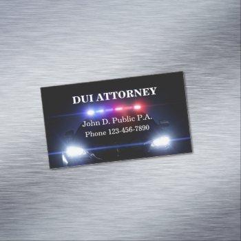 dui attorney defense lawyer business card magnet